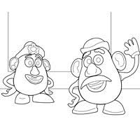 mr and mrs potato head coloring pages. Mr And Mrs Potato Head In Coloring Pages