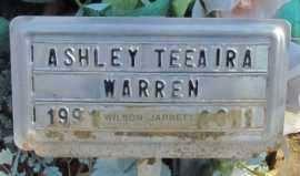 WARREN, ASHLEY TEEAIRA - Conway County, Arkansas | ASHLEY TEEAIRA WARREN -  Arkansas Gravestone Photos