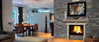stunning rock stone fireplaces le
