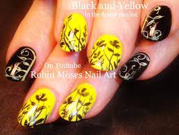 Black And White Nail Art Design Idea