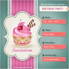 How To Make Online Birthday Invitation Card Birthdaybuzz
