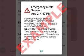 Destructive' thunderstorm warning ...