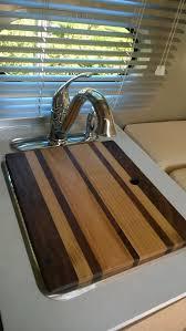 custom rectangular hardwood sink cover cutting board
