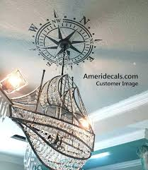 white chandelier wall decal chandelier wall decal ceiling decal compass rose wall decal nautical by white