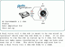 dual voice coil 2 ohm wiring diagram wiring diagram 4 Ohm Dual Voice Coil Wiring Diagram wiring 4 ohm subs diagrams image base four dual voice coil speakers in parallel source subwoofer speaker wiring diagrams kicker wiring diagram for dual 4 ohm voice coil
