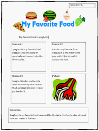 common core opinion writing template my favorite food k  opinion writing template my favorite food