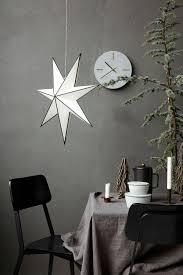 House Doctor Weihnachtsstern Stroke 60 Cm Schwarz Weiß