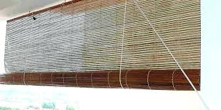 H Bamboo Blinds Home Depot Outdoor  For Patio