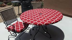 decor tips captivating round red moroccan pattern outdoor polyester mesmerizing outdoor tablecloths with umbrella hole and