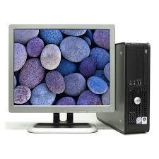 dell desktop 755 pc computer core 2 duo 3gb 250gb win 7 pro lcd monitor