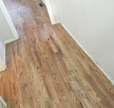 red oak 2 stained with a custom blend of bona brand recipe