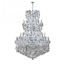maria theresa collection 61 light chrome finish crystal chandelier 54 d x 62 h