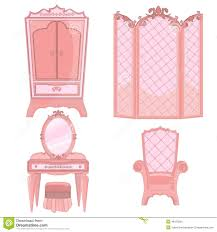 Princess Bedroom Princess Bedroom Stock Vector Image 48125294