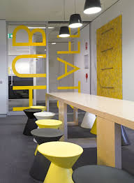 Yellow Office Black And Yellow Abn Headquarters Office Interior Conference