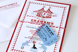 Circus Theme Invitation Circus Themed 2nd Birthday Party Invitations Embellished Paperie Llc