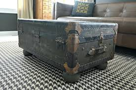 vintage trunk coffee table steamer