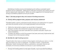Writing A Grant Proposal Template
