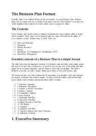 executive business plan template business proposal executive summary sample forecast