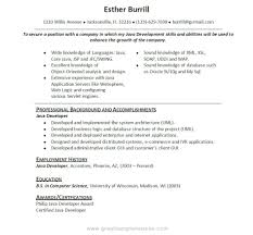... Enjoyable Design Ideas Java Developer Resume Sample 15 Developer ...
