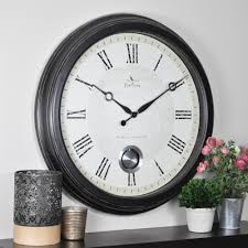 colossal 24 inch outdoor clock firstime in round adair wall 25605