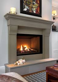 solus cornice concrete fireplace surround