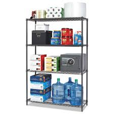 alera black anthracite plus wire shelving kit