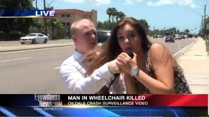 A male reporter is interrupted by a girl on LIVE TV FMRITP YouTube