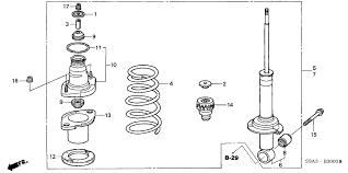 52611 s9a a12 genuine honda shock absorber unit, rr 2002 Honda CR-V Engine Diagram 2005 honda cr v 5 door se ka 5at rear shock absorber