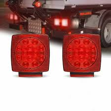 Led Boat Trailer Brake Lights Details About 2 X Led Submersible Square Trailer Boat Truck Stop Tail Brake Light Side Marker