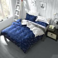full image for 3 4pcs active printed galaxy bedding set stars duvet cover with bed sheetqueen