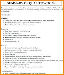 Sample Resume With Qualifications Sarahepps Com