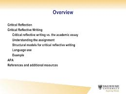 critical reflective writing critical reflective writing in social work by linda macdonald phd the dalhousie writing centre 2