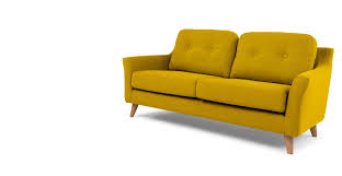 A 2 seater sofa, in Mustard Yellow