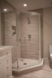 Chrome Framed Neo Angle Shower Enclosure with Clear Glass Door Installed by  Innovative Closet Designs in
