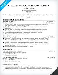 food service resume food service worker resume food server job description  resume