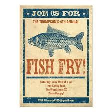 Fish Fry Invitations Fried Fish Fish Fry Party Birthday Bbq