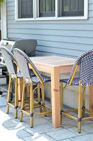 free plans for building this diy outdoor bar table super easy and perfect for next