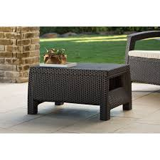 white wicker patio coffee table collection coffee table rowan od outdoor round coffee table concrete