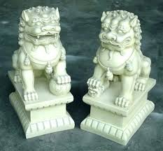 dragon garden statues. Large Dragon Garden Statue Statues Ornaments 2 Foo Dogs Dog Stone .