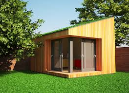garden office designs. living roofs are most common on flat roof garden offices but can also be used office designs
