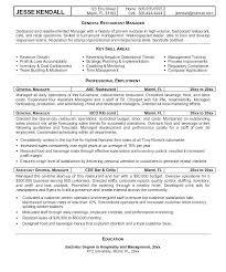Content Manager Resume Restaurant Manager Resume Cover Letter Sample