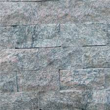 grey natural mushroomed stone quartzite stone stacked stone wall cladding tiles