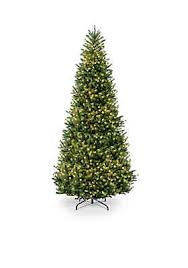 National Tree Company® 12-ft. Natural Fraser Slim Fir Hinged with Clear Christmas Sale | belk