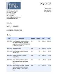 Download Lawyer Invoice Template Word Images