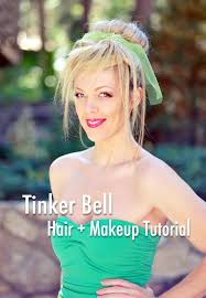through tinker bell hair makeup tutorial to see my step by step photos on how to get the look for the full costume