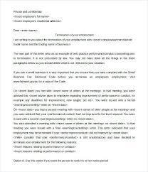 Employment Termination Letters | Nfcnbarroom.com