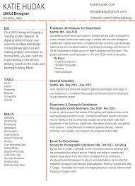 Ux Designer Resume Katie Hudak UX UI Designer › Resume 21