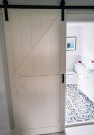 sliding barn door for small bathroom