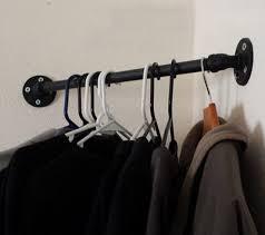 Wall Coat And Hat Rack BATHROOM CORNER SHELF LOFT STYLE COAT HAT RACK HOOKS IRON CLOTHES 81