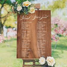 Find Your Seat Seating Plan Wedding Sign Wood Style Background